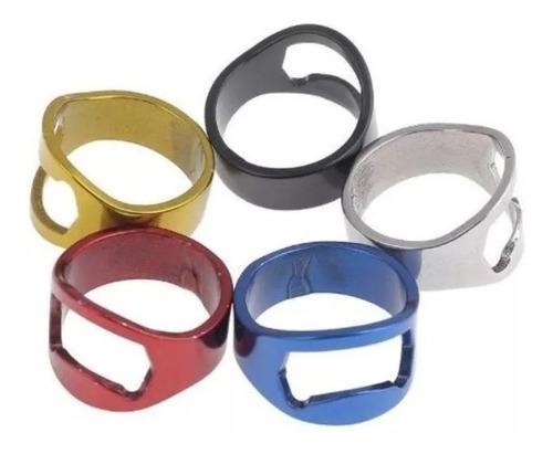 anillo destapador de botellas acero inoxidable colores