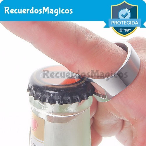anillo destapador de botellas acero inoxidable recuerdos