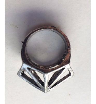 anillo diamante en color bronce y color plateado