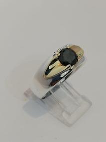 0f821a57fc03 Anillo Caballero Oro Blanco Diamante Negro Joyeria - Anillos en ...