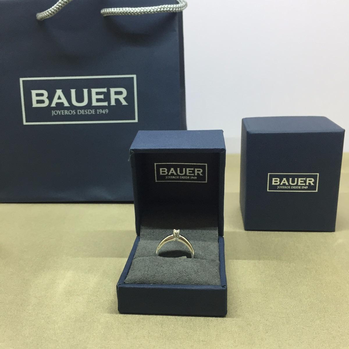 344effca7c28 Anillo De Diamante Solitario 10 Puntos Oro Blanco Bauer -   8