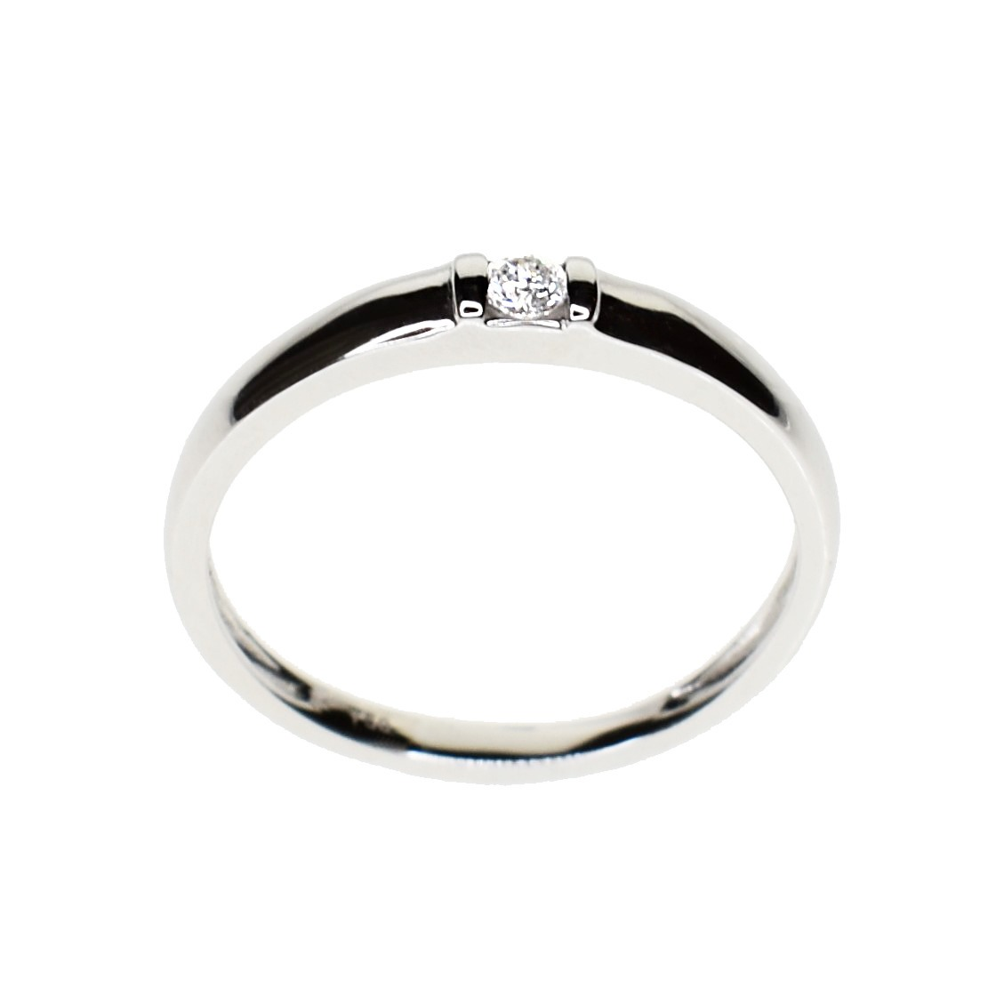 8020b098df05 Anillo Diamante Solitario Compromiso Oro Blanco 18 Kts. -   23.500 ...