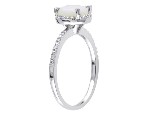 anillo diamantes plata