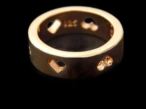 anillo en chapa de oro 14k con zirconia