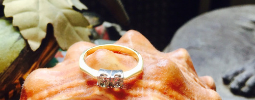 anillo en oro 18 k con brillantes
