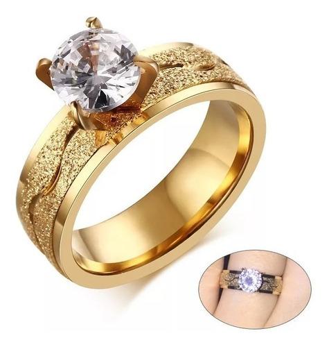 anillo en oro 18 k promesa amor cristal corte diamante 299