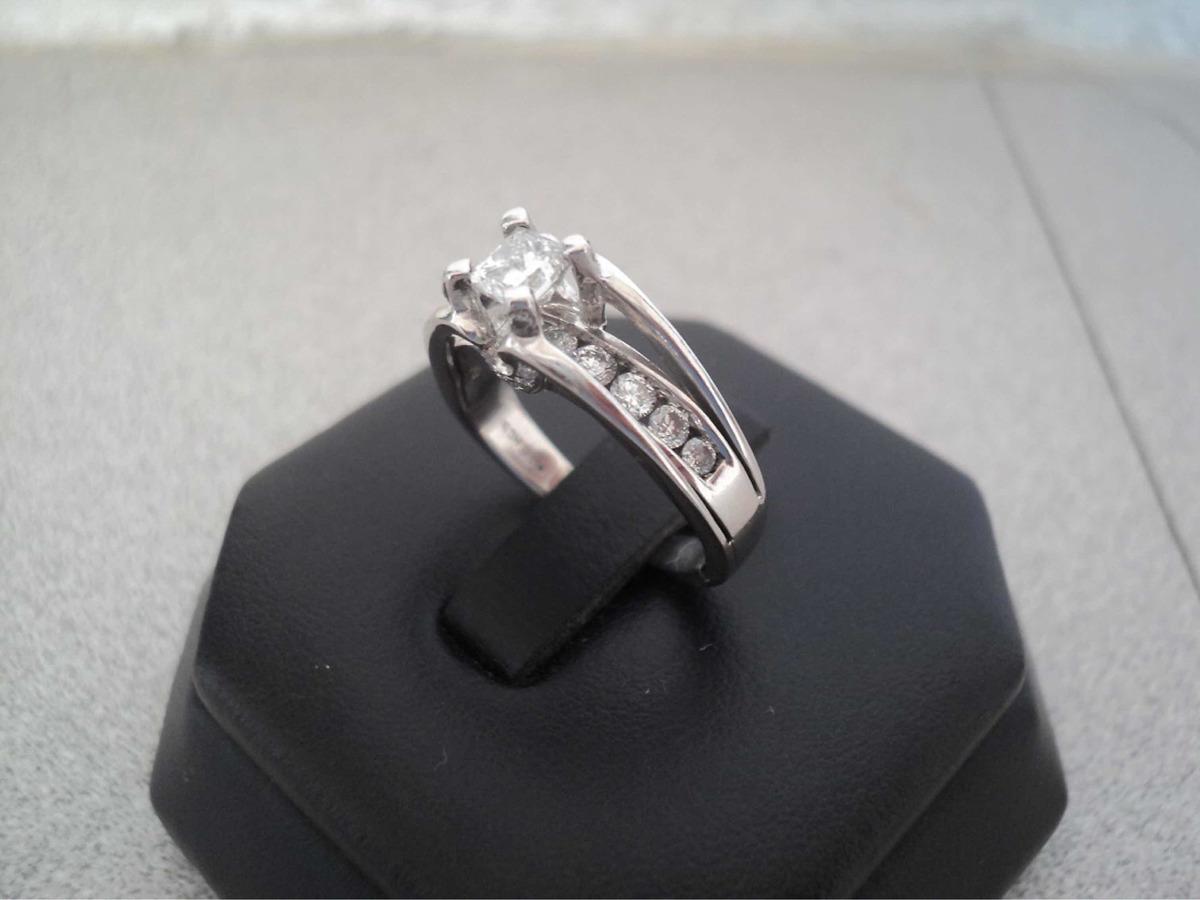 grandes ofertas precio asombroso seleccione para oficial Anillo En Oro Blanco De 18k Con Diamante Corte Princesa
