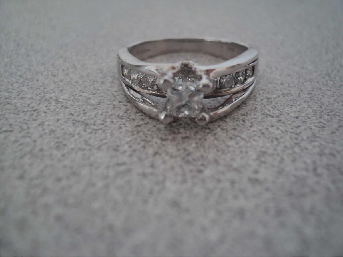 oficial mejor calificado selección premium barato mejor valorado Anillo En Oro Blanco De 18k Con Diamante Corte Princesa
