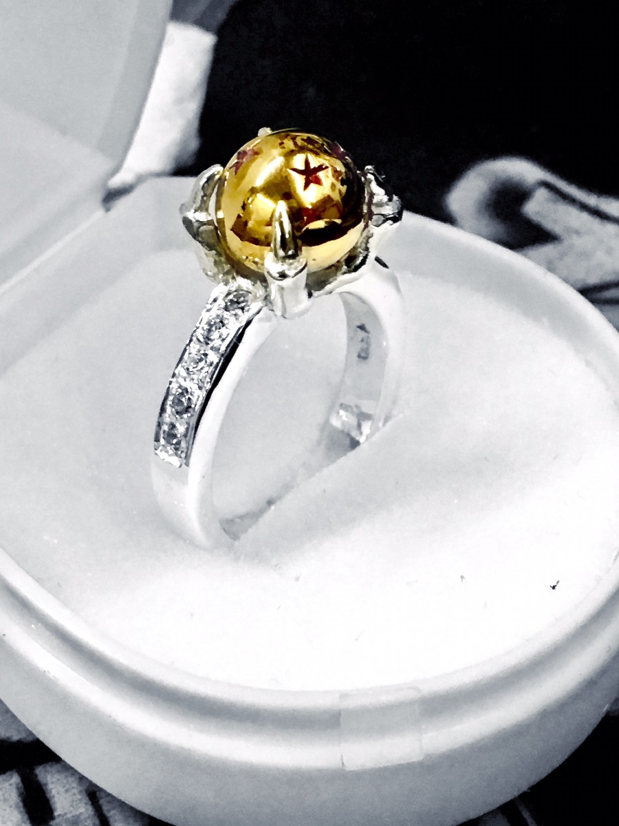 Anillo Esfera Del Dragon Ball En Plata Ley 925 Env 237 O