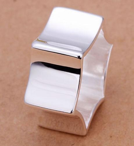 anillo estrella baño en plata # 8