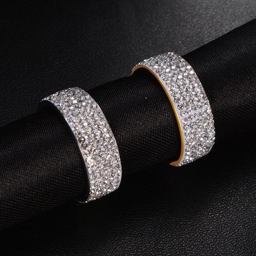 anillo eternidad acero inoxidable compromiso alianza uu
