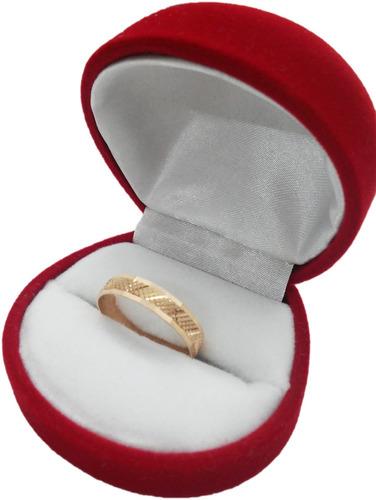 anillo facetado oro 18k modelo 2070 joyeria esponda