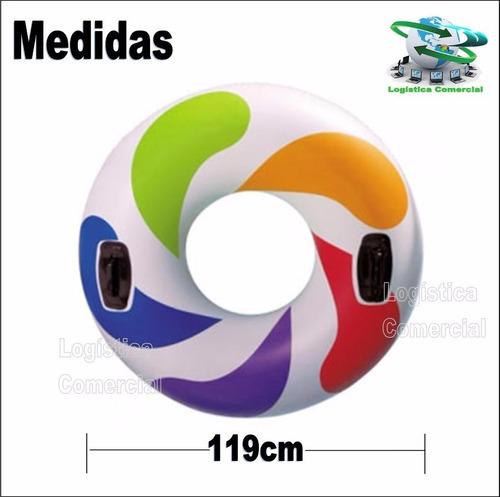 anillo flotador inflable adulto con asas 58202 intex 119cm