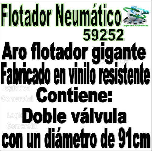 anillo flotador neumatico  91cm inflable adulto 59252 intex