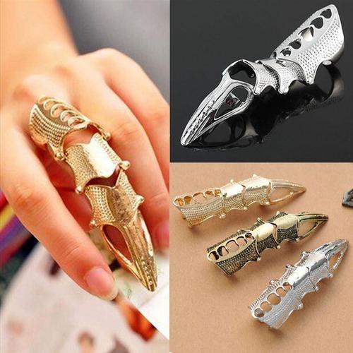 anillo garra gotico armadura para dedo de acero