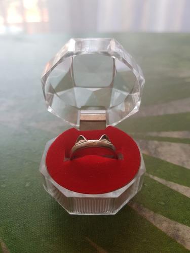 anillo gato plata lola ley 925/ajustable