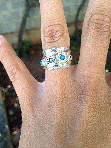 Spinner Ring Three Metal Rings Meditation Ring Anti Stress Ring Multi Metal Ring SIZE US7.75 Unisex Ring Mixed Metal Ring Yoga Ring