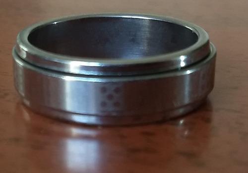 anillo giratorio unisex acero quirurgico con sobreanillo - motivo dados
