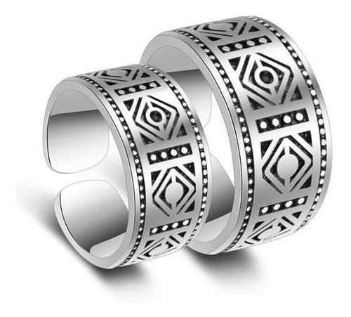 anillo grabado totem en plata .925 (solo dama disponible)