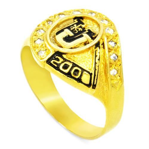 anillo grado plata baño en oro