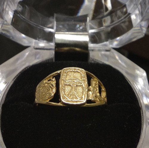 anillo graduación preparatoria oro 10k garantizado