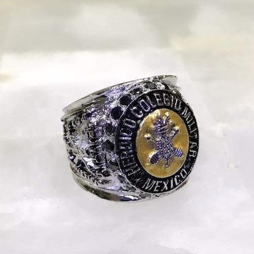 anillo heroico colegio militar  plata 925