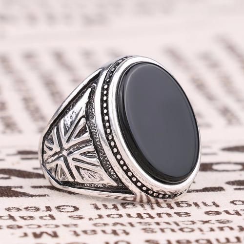 anillo hombre mujer marca gukin modelo britania negro