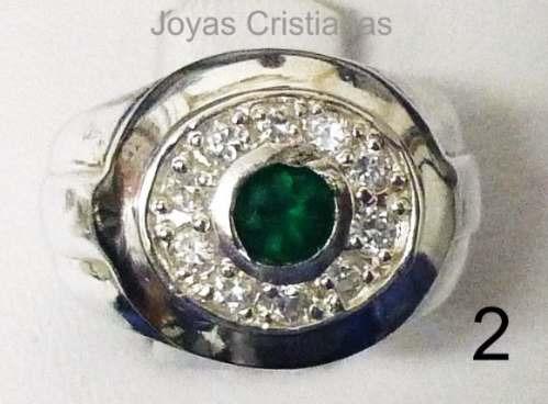 anillo hombre plata 925 dia padre oro diamante grado esmeral