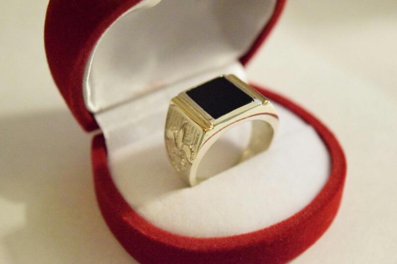 bffb2ed3d087 anillo hombre plata 925 y oro piedra negra envio gratis!!! Cargando zoom.