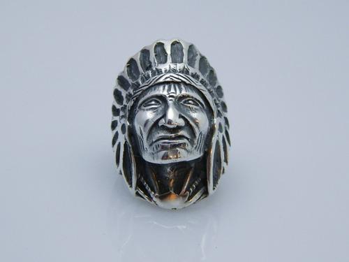 anillo indio cacique plata 925,diseño exclusivo.