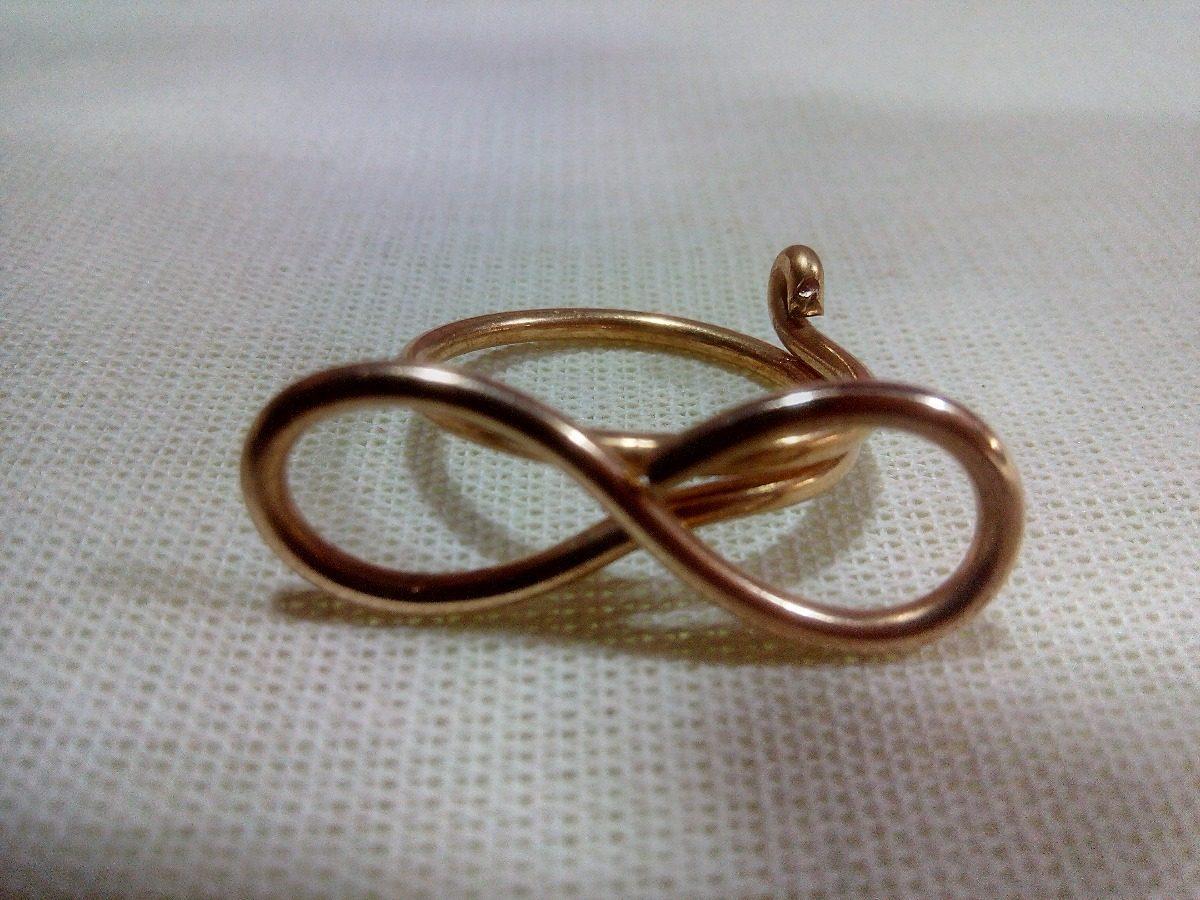 94570f5a0838 anillo infinito artesanal tumbaga dorado dama hecho a mano. Cargando zoom.
