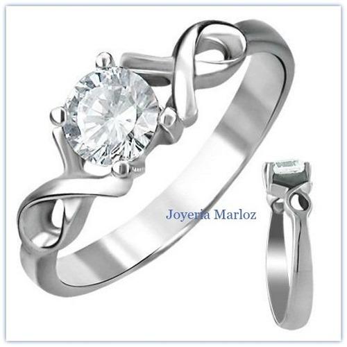 anillo infinito en oro blanco 10kt envio gratis