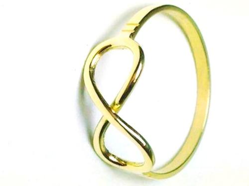 anillo infinito oro 18 k