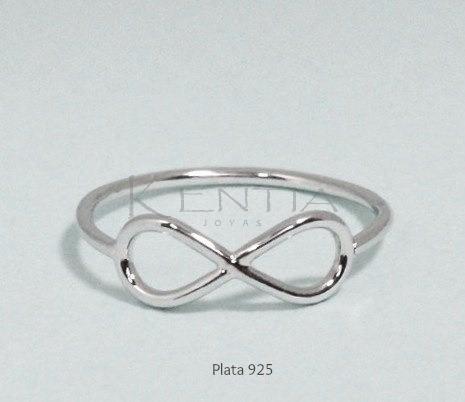 anillo infinito plata 925