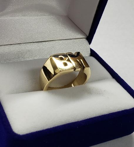 anillo iniciales oro 18k personalizado - 10 grs - a medida