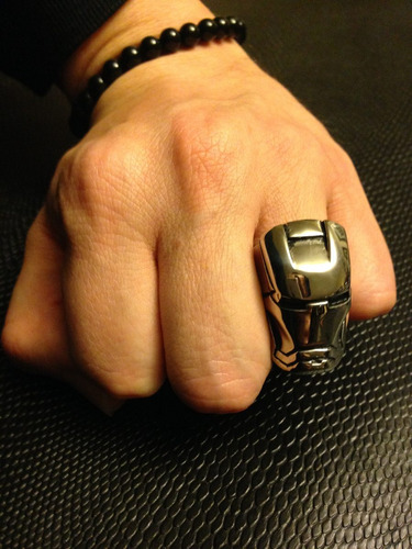 anillo iron man acero inox bikers chopper punk rock