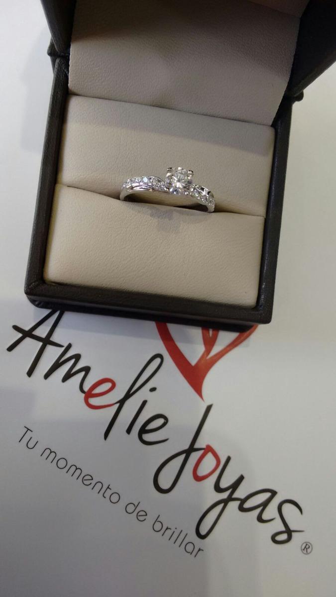 fee022f49d14 anillo de compromiso amelie joyas oro blanco 14k c swarovski · anillo joyas  oro. Cargando zoom.