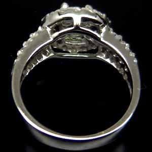 anillo lindo diopsida solitaria circon #6 plata 925 ringking