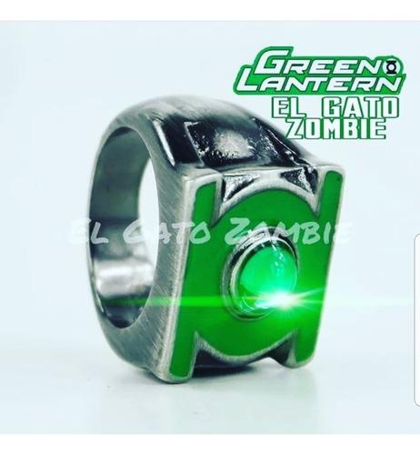 anillo linterna verde metal pulido green lantern dc