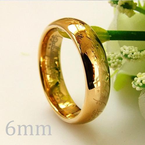 anillo lord of the rings señor de los anillos oro 18k