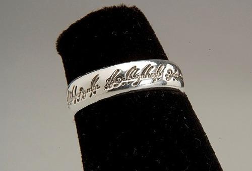 anillo los anillos plata