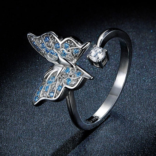 anillo mariposa morpho, c r  charms, joyería con sentimiento