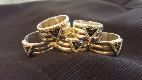 anillo masónico 33° en plata con zirconias