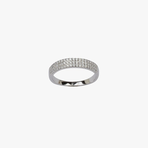 anillo medio sin fin de plata 925 y cubics mod. 10328