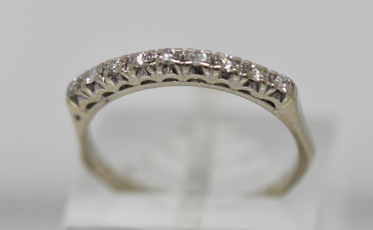 4543cc088c64 anillo medio sin fin oro 18 kilates brillantes 1.90 grs. Cargando zoom.