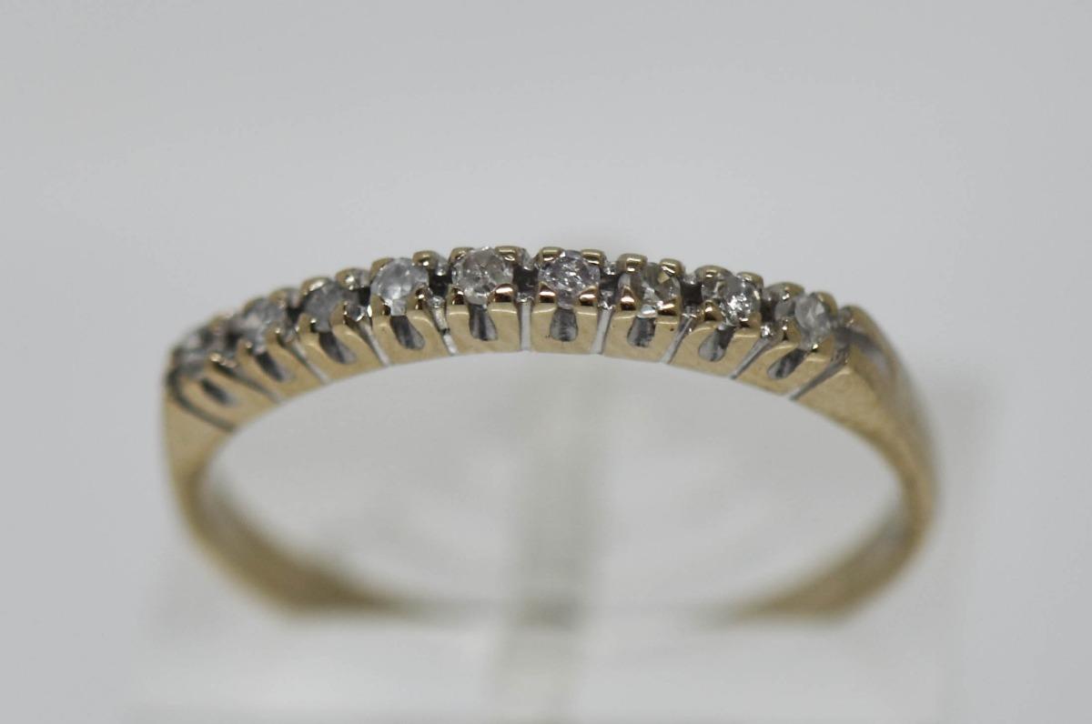 5cb67f11ad86 anillo medio sinfin moderno oro 18 kilates brillantes 1.86 g. Cargando zoom.