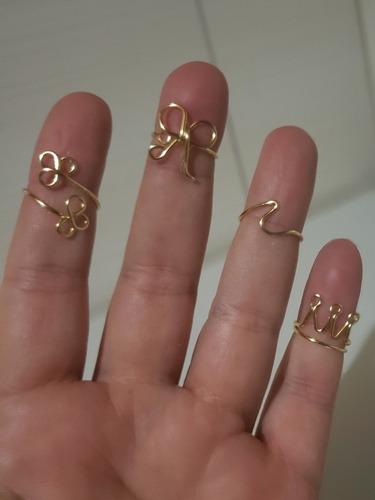 anillo midi con cristales