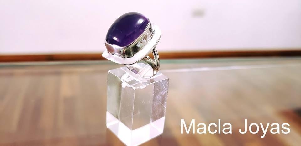 2c4b70b83227 anillo mod. kanzas en plata 925 y piedra natural. Cargando zoom.