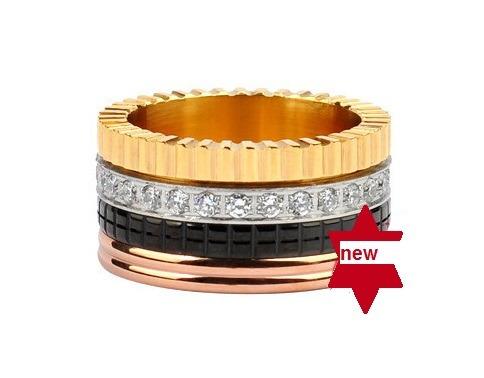anillo moda titanium banda cuatro tonos sz 7