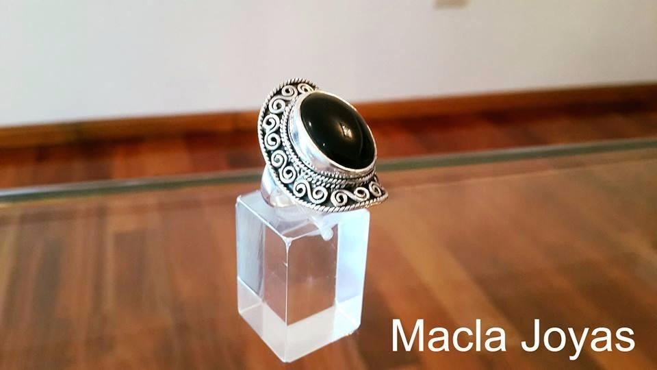 63f49c4647d7 anillo modelo parma en plata 925 y piedra natural. Cargando zoom.